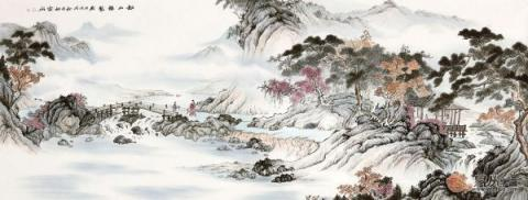 春节送领导李佩锦国画山水,让你在领导心里留下好印象!